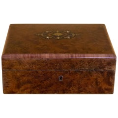 Napoleon 3 Jewelry Box in Rosewood and Marquetry