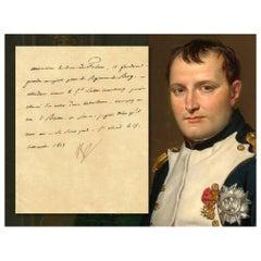 Napoleon Bonaparte Antique 1813 Signed Paper Note