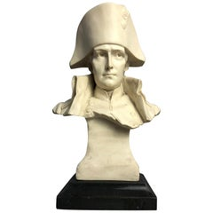 Napoleon Bust, French Emperor I Bonaparte Military, Signed