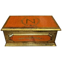 Napoleon Crested Gilted Trinket Box