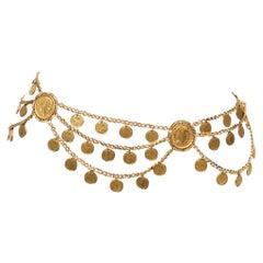 Napoleon Gold Coin Chain Belt