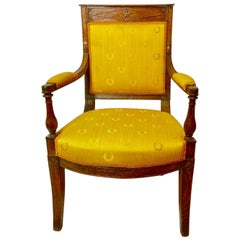 Napoleon I Armchair, Period Piece, First Empire