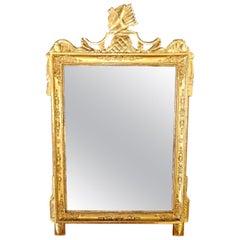 Napoleon I Empire French Gold Leaf Wood Mirror