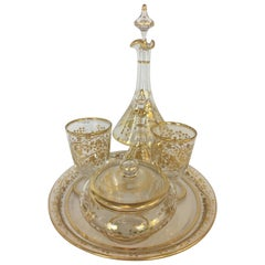 Napoleon III Baccarat Gold Crystal Liquor with Gilt Enamel Decoration