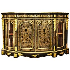 Napoleon III Boulle Large Sideboard Credenza, France, 1870