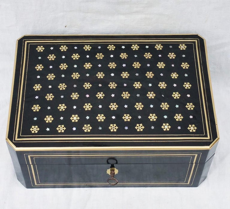 Mid-19th Century Napoleon III  Boulle Marquetry Jewelry Box, France 1865 For Sale