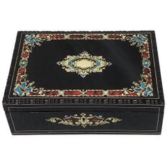 Napoleon III Boulle Marquetry Jewelry Box, France 19th Century