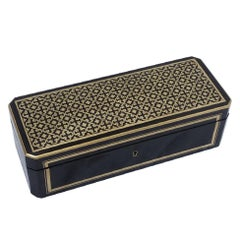 Napoleon III Boulle Marquetry Jewelry Decorative Gloves Box, France