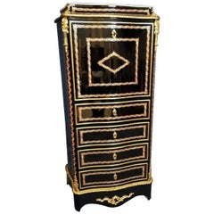 Napoleon III Boulle Marquetry Secretary Cabinet, France, 1860