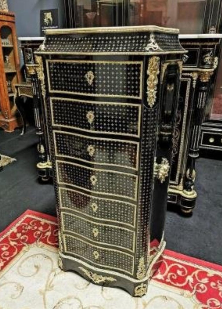 Napoleon III Boulle Marquetry Secretary, France, 19th Century In Good Condition For Sale In Paris, FR