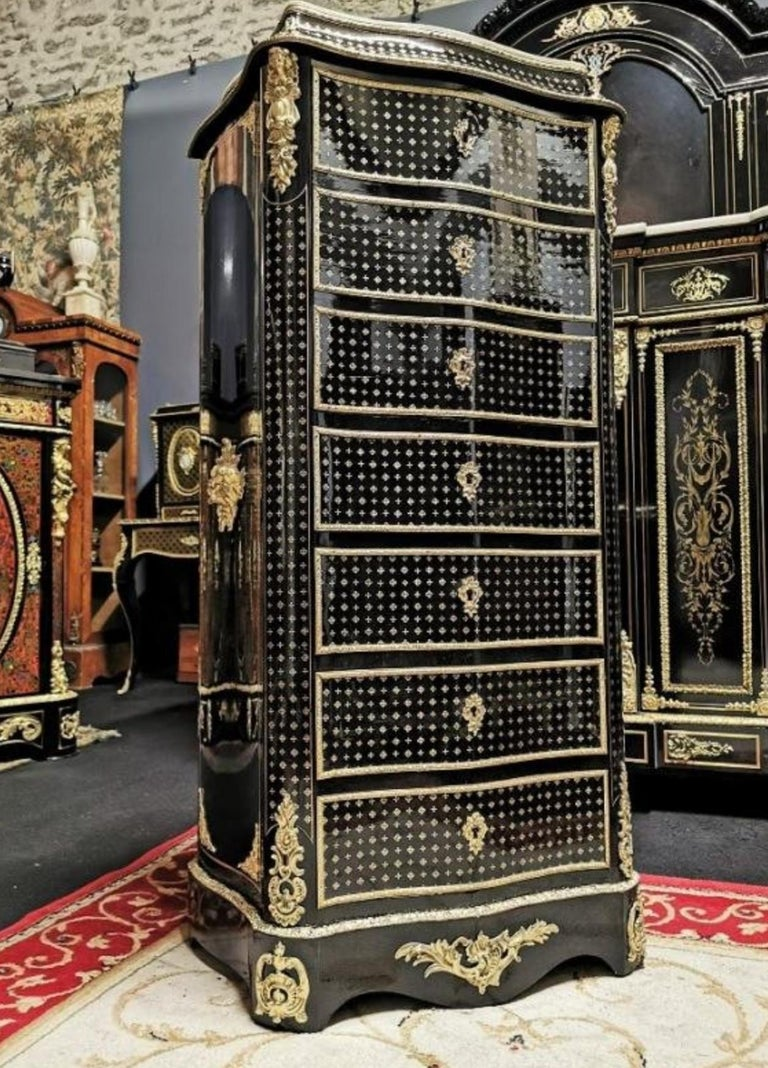 Napoleon III Boulle Marquetry Secretary, France, 19th Century For Sale 1