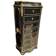 Napoleon III Boulle Marquetry Secretary, France, 19th Century