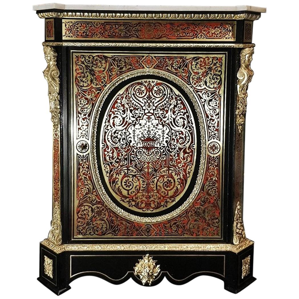 1800-1899 Furniture 2019 Fashion Napoleon Iii French Gilt Bronze/ Brass Inlaid Cabinets 1850 After Andre Boulle!