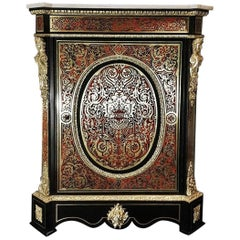 Napoleon III Boulle Tortoise Shell Marquetry Cabinet, France 1850