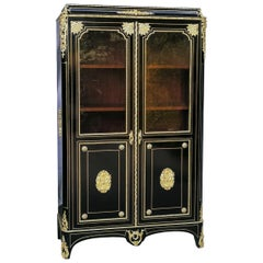 Napoleon III Boulle Vitrine Bookcase, France, 19th Century