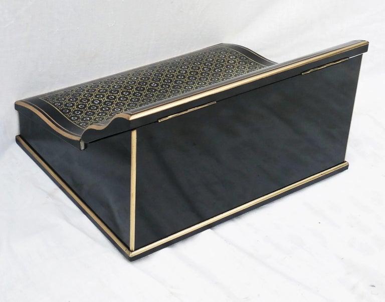 Late 19th Century Napoleon III Boulle Writing Cabinet Box, France, 1870 For Sale