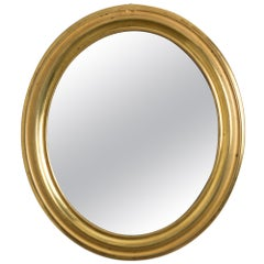 Napoleon III Brass Oval Mirror