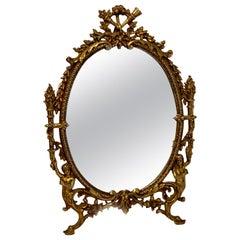 Napoleon III Bronze Dressing Mirror
