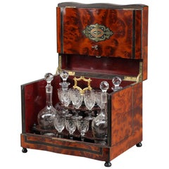 Napoleon III Burr Elm and Brass Liquor Cellar