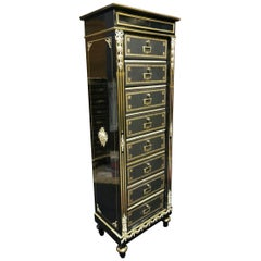Napoleon III Cardbox Documents Cabinet, France, 19th Century
