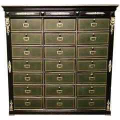 Napoleon III Cartonnier Cabinet with 21 Compartments, France 19th Century