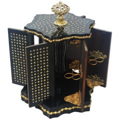 Napoleon III Cigar Box in Boulle Style Marquetry, France