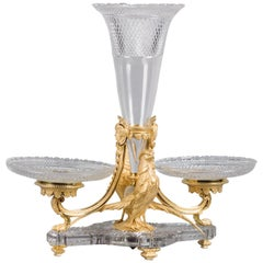 Napoleon III Cut-Glass and Gilt-Bronze Epergne by Henri Picard, circa 1870