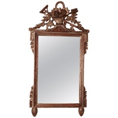 Napoleon III, Distressed, Faded Wall Mirror on a Gardening Theme