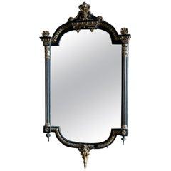 Napoleon III Ebonized and Guilded Wall Mirror