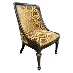 Napoleon III Ebonized Slipper Chair