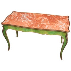 Napoleon III Enamel and Marble Low Table