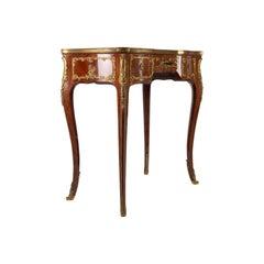 Napoleon III Era Desk, Louis XV Style, 1880, Signed Lucien Roulin