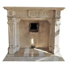 Napoléon III Fireplace in Carrara Marble