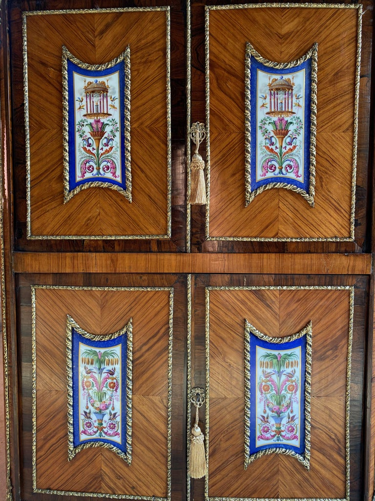 Late 19th Century Napoleon III French Cabinet Escritoire Kingwood and Rosewood, France, 1890 For Sale