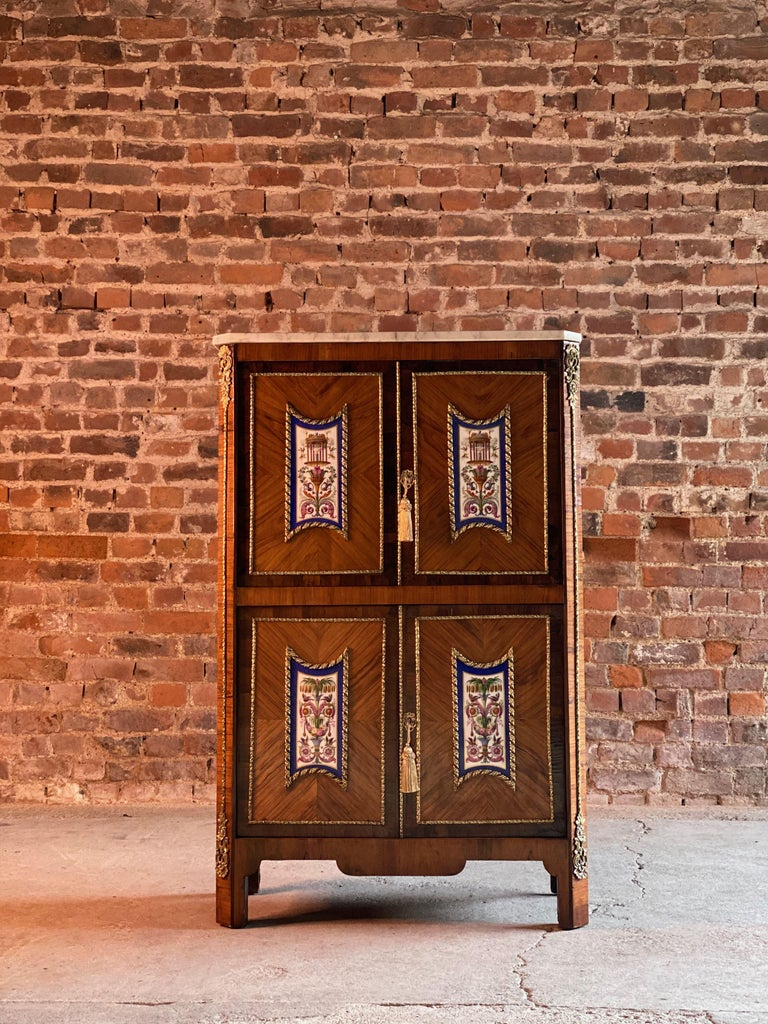 Napoleon III French Cabinet Escritoire Kingwood and Rosewood, France, 1890 For Sale 1