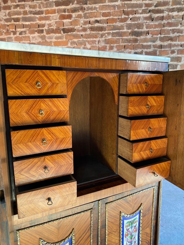 Napoleon III French Cabinet Escritoire Kingwood and Rosewood, France, 1890 For Sale 3
