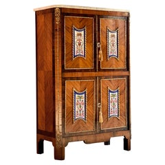 Napoleon III French Cabinet Escritoire Kingwood and Rosewood, France, 1890