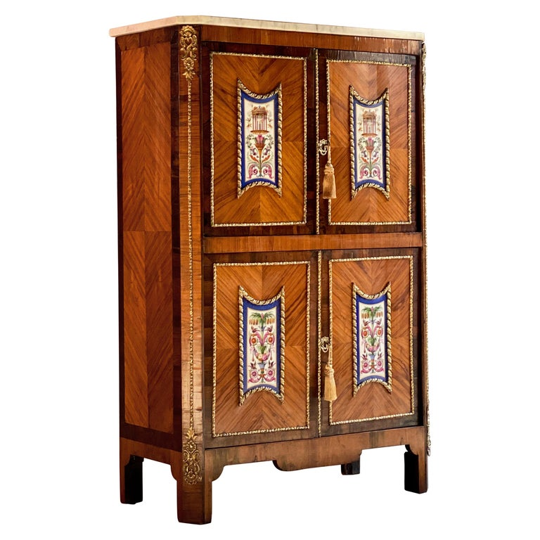 Napoleon III French Cabinet Escritoire Kingwood and Rosewood, France, 1890 For Sale