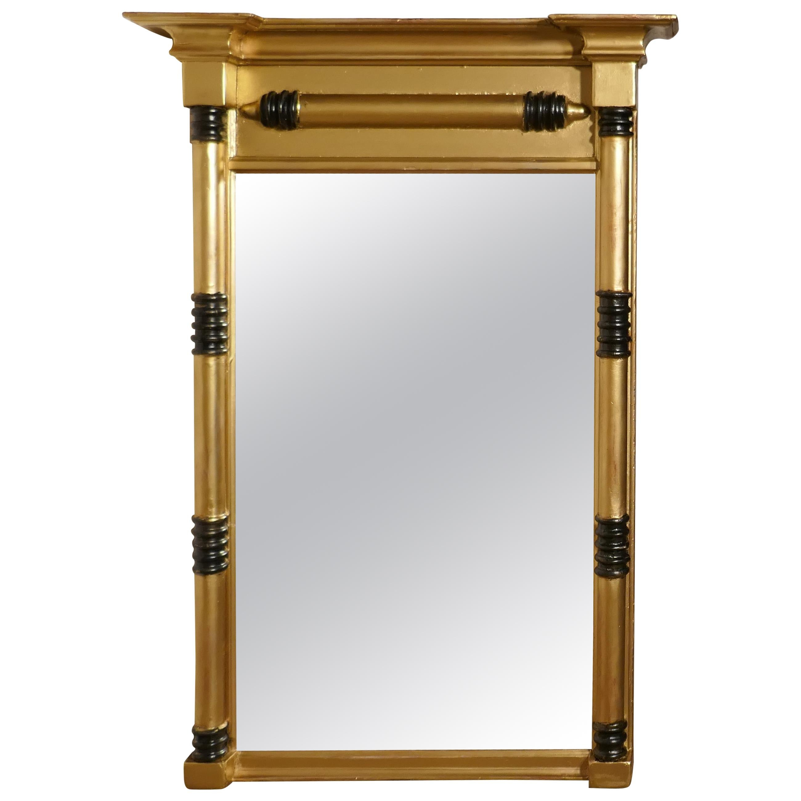 Napoleon III French Carved Gilt Wall Mirror