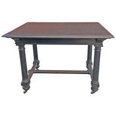 Napoleon III French Ebonized Walnut table, 1870s