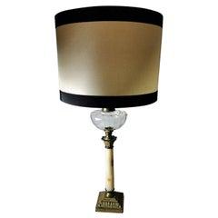 Napoleon III French Marble Corinthian Column-Shaped Table Lamp