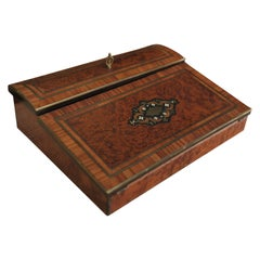 Napoleon III French Marquetry Writing Case