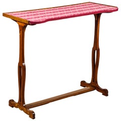 Napoleon III Fruitwood Sewing Table with Cut Velvet Top