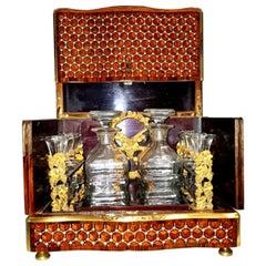 Napoleon III Geometric Style Bronze Liquor Cellar, France, 1865