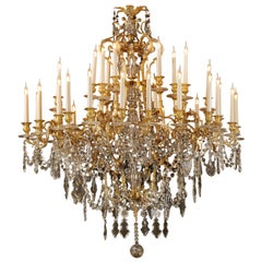 Napoléon III Gilt Bronze and Cut-Glass Thirty-Six Light Chandelier, circa 1870