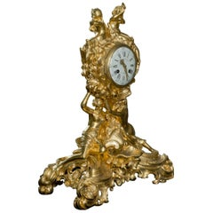 Napoléon III Gilt-Bronze Double-Faced Clock. French, c 1870