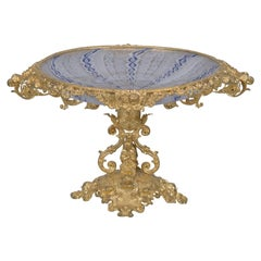 Napoleon III Gilt-Bronze and Glass Tazza, French, circa 1870
