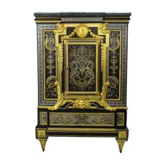 Napoleon III Gilt Bronze Mounted Boulle Style Marquetry Cabinet, Winckelsen