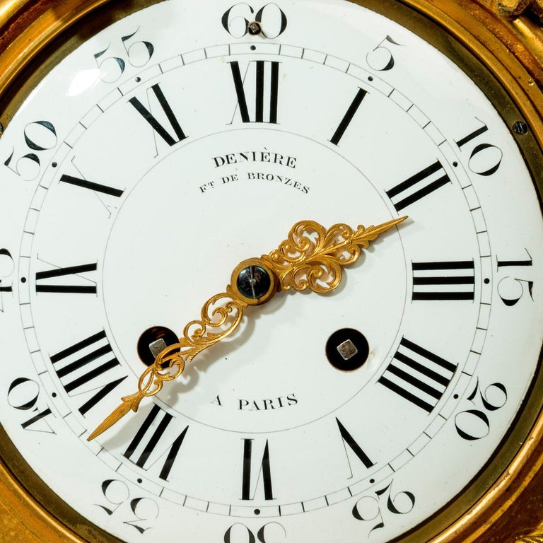Napoleon III Gilt Mantel Clock by Deniere In Good Condition For Sale In Lymington, Hampshire