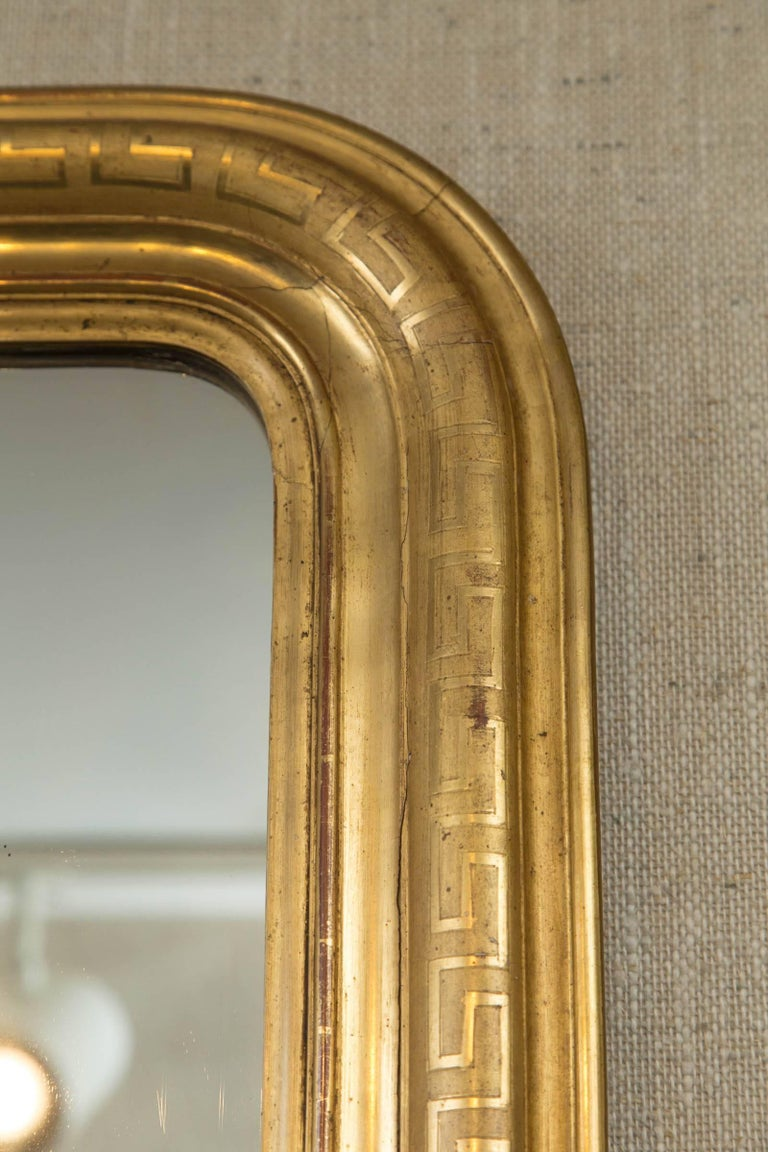 Napoleon III Giltwood Mirror In Excellent Condition In Woodbury, CT